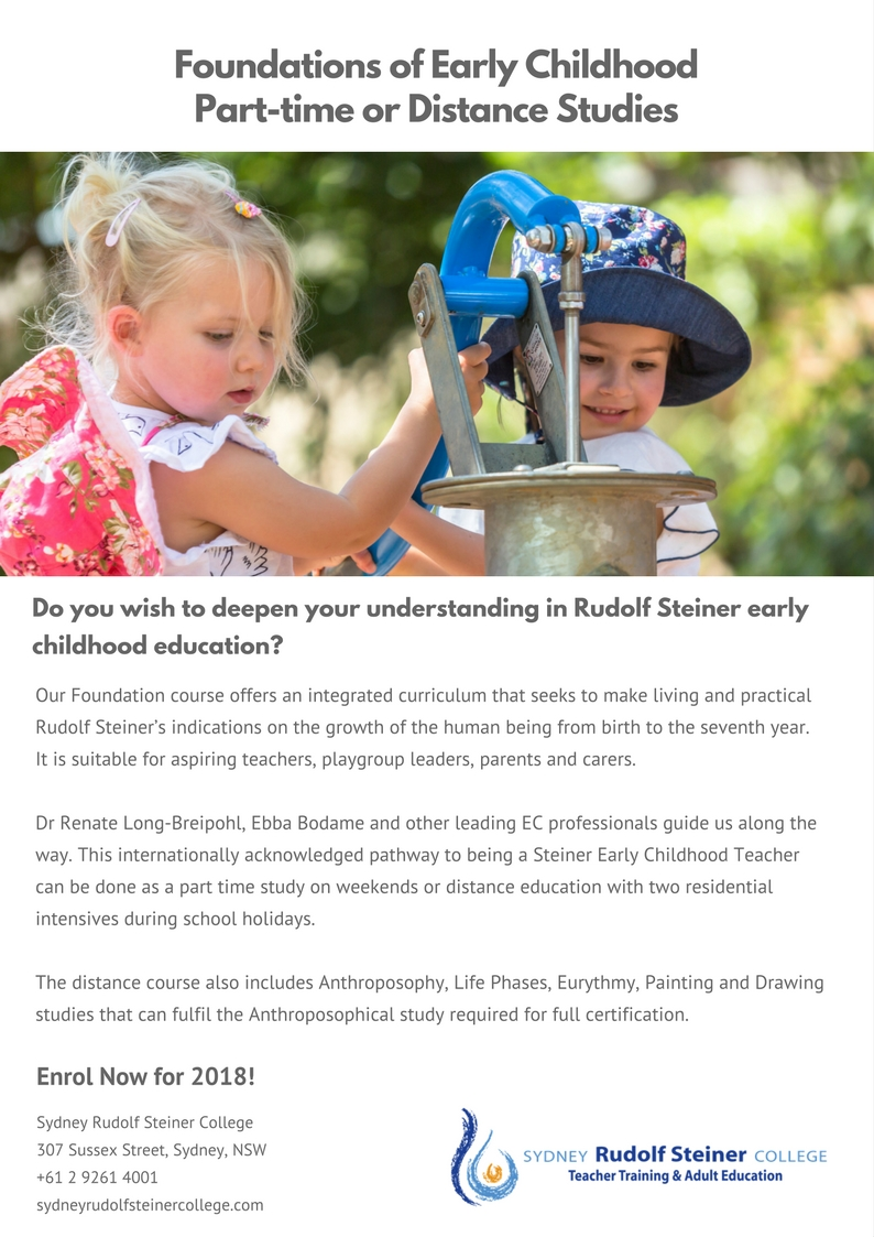 Foundations Of Early Childhood Steiner Education Australia
